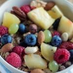 Dietetyczna owsianka z owocami